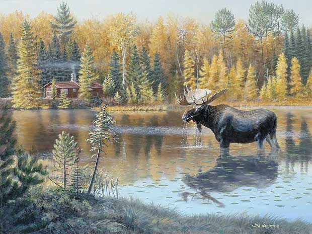 The Loner Moose By Jim Kasper Ebay